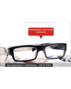 Spionglasögon i militärklass, 1080p, dold spionkamera, mic, microsd