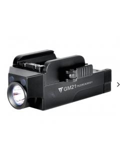 Kraftig Pistollampa GM21, 510 lumen, Micro-USB, Glock, Picatinny