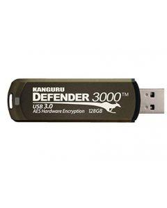 Kanguru Defender 3000 128GB krypterat USB-minne, AES 256-bit