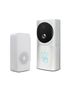 Trådlös Porttelefon med Kamera, WiFi, Mörkerseende, Rörelsedetektion, 160° Vidvinkel, Minneskortsplats
