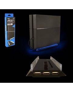 Vertikalt konsolstativ för Playstation 4, 3 usb-portar och belysning