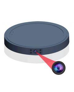 Spionkamera 1080p  med mörkerseende, dold i laddningsplatta för trådlös mobilladdning, QI