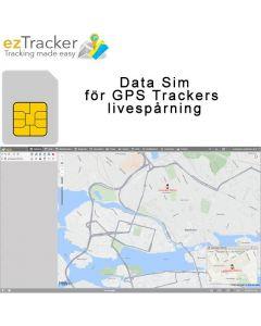 ezTracker™ Sim - Data Simkort 12 månader livespårning