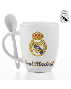 Mugg med Tesked, Real Madrid