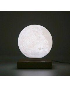 Svävande måne med 3D-yta och induktionsdriven LED-belysning