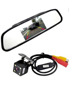 Backkamera Kit med Parkeringsmonitor, LED Mörkerseende, 4,3