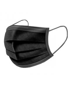 Munskydd 3-Lager, Svarta, 50-pack, Face Mask, Skyddsmask, Andningsmask