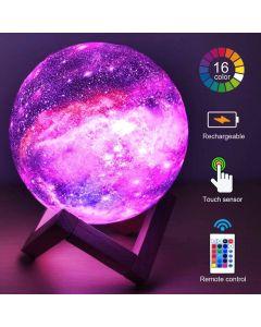 Nattlampa LED Månglob Galaxy, 16 Färger, Fjärrkontroll