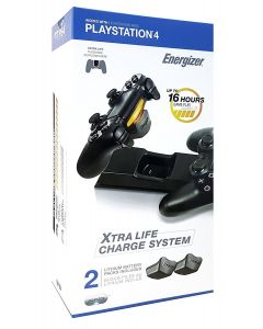 Energizer PS4 Extra Life Charge System - Laddningsstation till 2 PS4 kontrollers