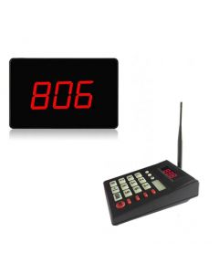 Trådlöst kösystem med LCD-skylt, 999 positioner, knappsats, 500 meters räckvidd