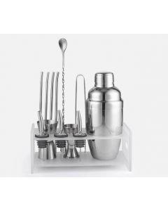 Pro bar set - Rostfritt shaker-set med tillbehör och ställ, 550 ml