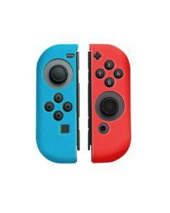 Nintendo Switch Joycon silikonskal - Rött/Blått