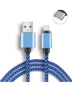 USB Type C kabel Universal, för laddning av mobiltelefoner, surfplattor mm, 2 meter (Blå)