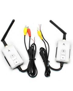 Trådlös videosändare, 2,4 GHz, 200 meter, RCA, DC12-24V