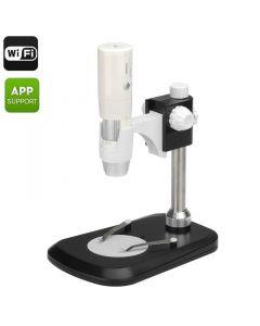 Trådlöst WiFi Mikroskop med 50-800x förstoring, LED-belysning, Justerbar fokus