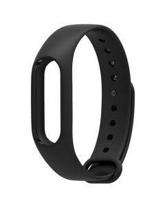 Mjukt gummi-armband för Xiaomi Mi Band 2 - Svart