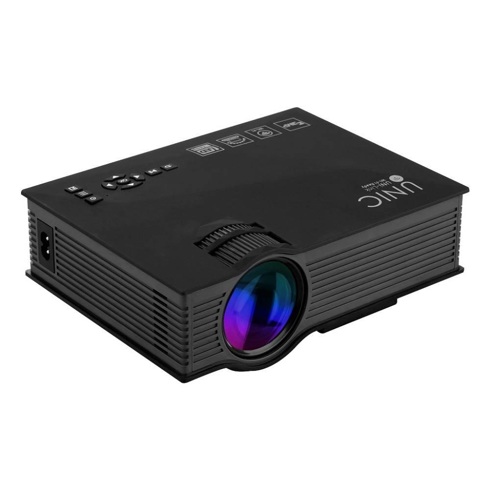 """Trådlös Projektor, LED, 1200 lm, DLNA/Miracast, 130"""" yta, mediaspelare"""